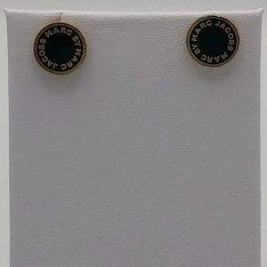 Marc by Marc Jacobs Black and Gold Stud earrings